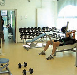 Espace fitness et musculation