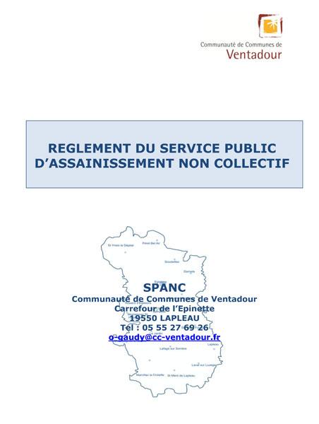 Spanc service public d assainissement non collectif communaut de commune - Assainissement non collectif reglementation ...