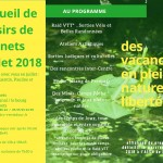 AL Darnets - Programme de juillet 2018