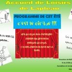 AL Lapleau - Programme de juillet 2018