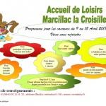 AL Marcillac - Programme des vacances d'avril 2018