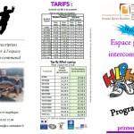Espace jeunes - Programme des vacances d'avril 2018 et bulletin d'inscription