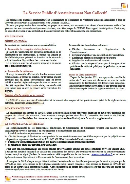 Spanc Service Public D Assainissement Non Collectif Communaute