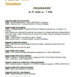 Programme du Festival de Ventadour 2016 (Corrèze)