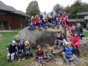 Les-enfants de l'AL Marcillac au parc des monts de Guéret