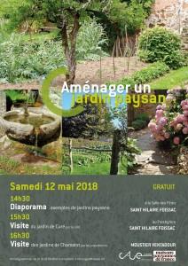 Aménager un jardin paysan - 12 mai 2018 (Affiche)