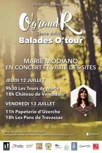 Concert de Marie Modiano le 12 juillet au Château de Ventadour
